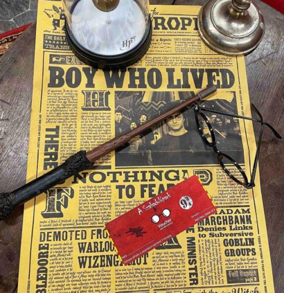Harry Potter szemüveg, varázspálca és ajándékutalvány